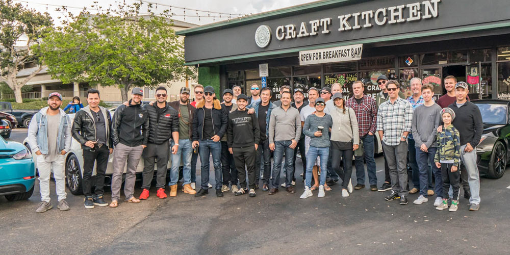 Fast Lane Drive members in front of Craft Kitchen